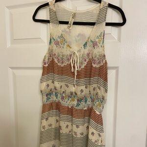 Free People Mixed Pattern Dress Size M